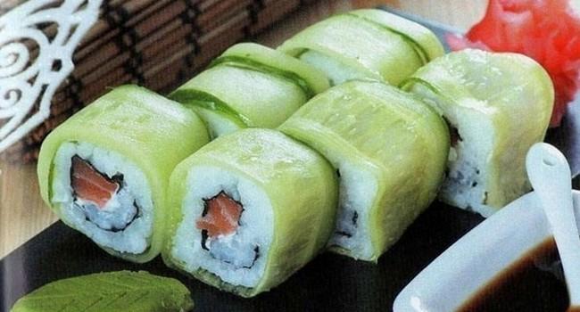 Квадратные суши с тофу