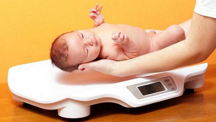 Набор веса и рост грудных детей