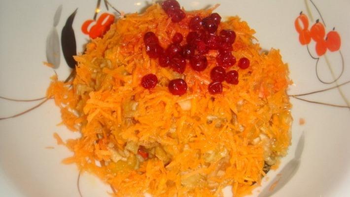 Салат из тыквы с яблоками и морковью