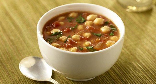 Суп со шпинатом и бобами