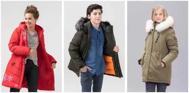 Зимняя одежда для подростков